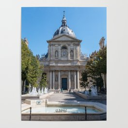 Tower of the Sorbonne University in Paris Poster