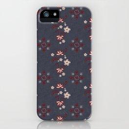 Stitched Florals iPhone Case