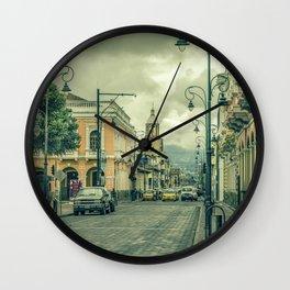 Riobamba Historic Center Urban Scene Wall Clock