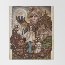 Labyrinth Tribute Throw Blanket