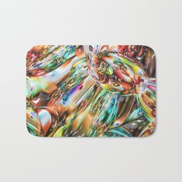 Colorful Melted Glass Bath Mat