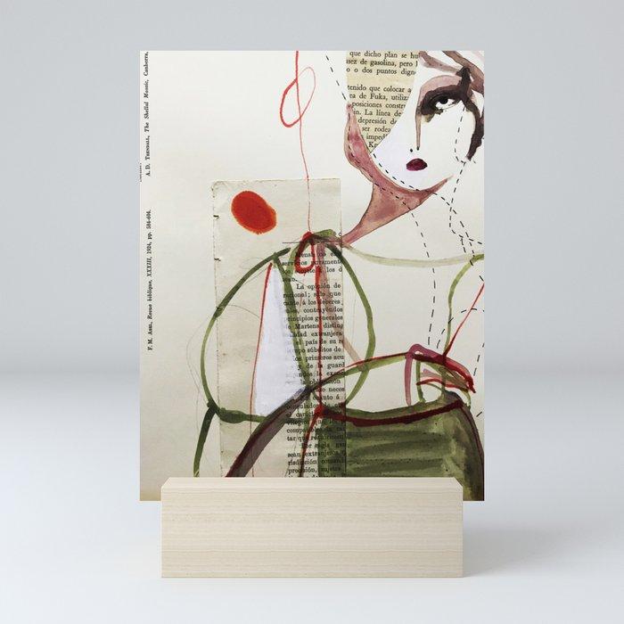Sepia Girl Mini Art Print