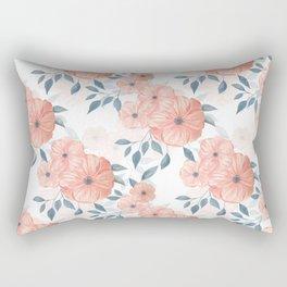 Seamless watercolor floral illustration. Rectangular Pillow