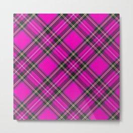 Pink Tartan Metal Print