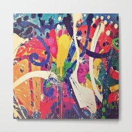 Street Art Paint Splatter Bold Colors  Metal Print