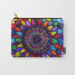 Flower of Life (sacred geometry rainbow chakra) Carry-All Pouch