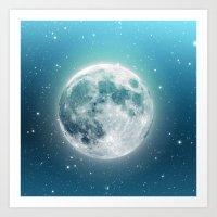 luna Art Prints featuring Luna by Good Sense