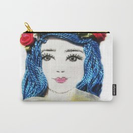Girl With the Blue Hair Carry-All Pouch