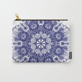Crab Karma Mandala Blue Carry-All Pouch
