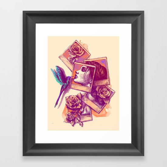Kiss From a Rose Framed Art Print
