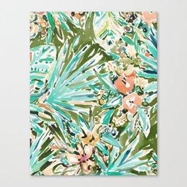 FAN OUT Tropical Palmetto Floral Canvas Print