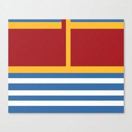 vintage primary colors Canvas Print