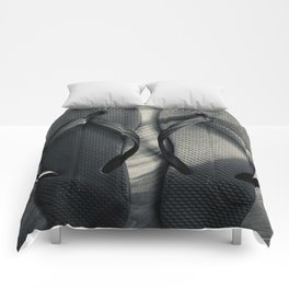 noir flip flops Comforters