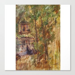 Temple in the Deep Forest in my village Canvas Print
