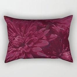 Burgundy Chrysanthemums Rectangular Pillow