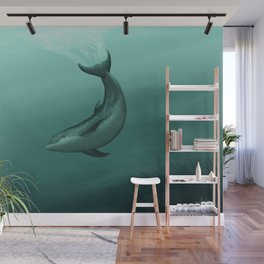 """""""Siren of the Lagoon"""" by Amber Marine ~ Indian River Lagoon Bottlenose Dolphin Art, (Copyright 2015) Wall Mural"""