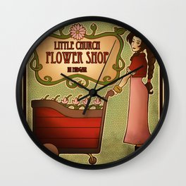 Midgar Flower Shop Wall Clock
