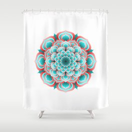 Turquoise Mandala Shower Curtain