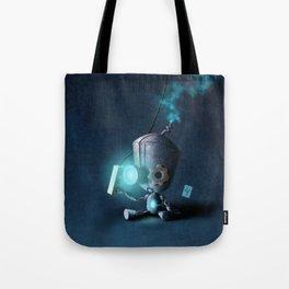 Glow Robot Tote Bag
