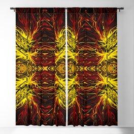 Electric Scarlet Sunburst Sunset by Chris Sparks Blackout Curtain