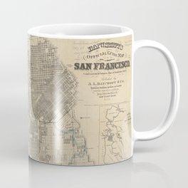 Vintage Map of San Francisco CA (1881) Coffee Mug