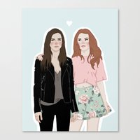 lydia martin Canvas Prints featuring Cora Hale/Lydia Martin by vulcains