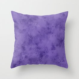 Watercolor Splattering in Ultra Violet (2018 Pantone color) Throw Pillow