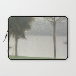 Across the Yarra - Clarice Beckett - Australian abstract Realism Laptop Sleeve