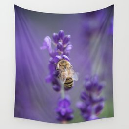 Lavender Bee Wall Tapestry