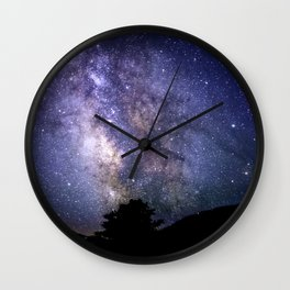 The Milky Way Violet Blue Wall Clock