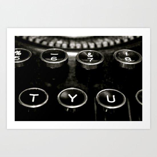 Vintage Typewriter #2 Art Print