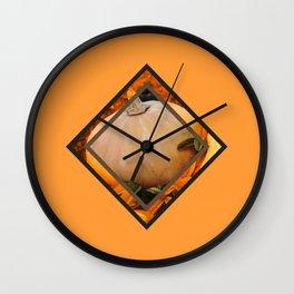 Orange Time #society6 #decor #buyart Wall Clock