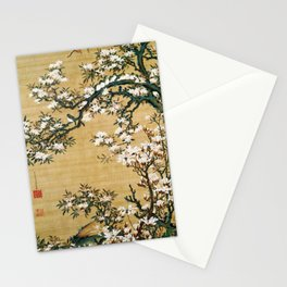 Ito Jakuchu - Malus Halliana And White-eye - Digital Remastered Edition Stationery Cards