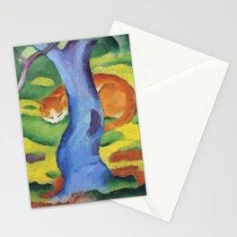 """Franz Marc """"Children's Picture: Cat behind a Tree (Kinderbild: Katze hinter einem Baum)"""" Stationery Cards"""