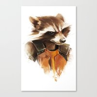 rocket raccoon Canvas Prints featuring Rocket by Colien