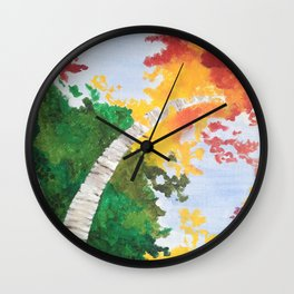 """Look Up North"" - Left Panel Wall Clock"