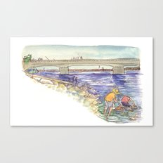 Mussel Hunters Canvas Print