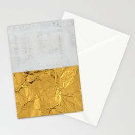 Gold Foil and Concrete Stationery Cards
