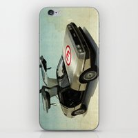delorean iPhone & iPod Skins featuring Number 3 - DeLorean by Vin Zzep