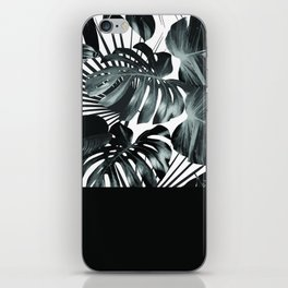 Palm Leaves and Black iPhone Skin