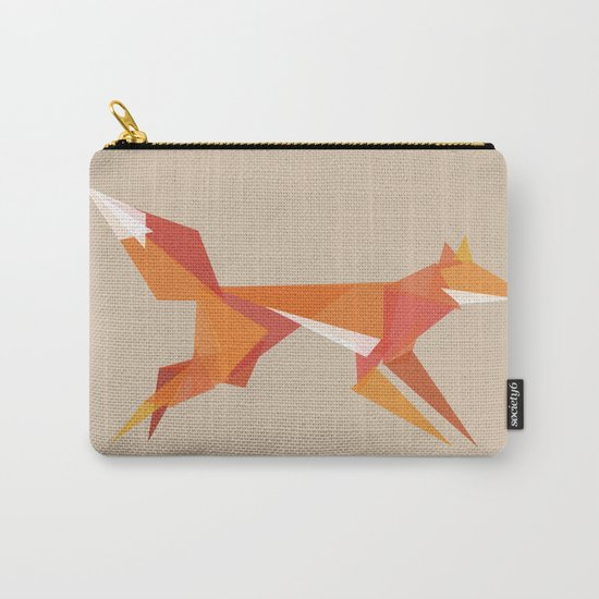 Fractal geometric fox Carry-All Pouch