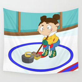 Winter Sports: Curling Wall Tapestry
