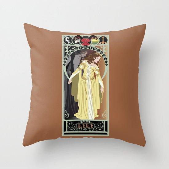 Lili Nouveau - Legend Throw Pillow