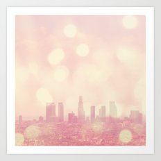 City of Dreamers. Los Angeles skyline photograph Art Print