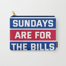 Sundays Are for the bills Carry-All Pouch
