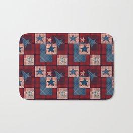 Creative patchwork. Star. The creative pattern. Bath Mat