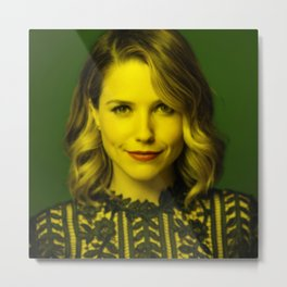 Sophia Bush - Celebrity (Florescent Color Technique) Metal Print