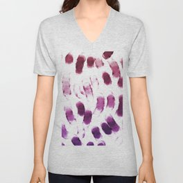 Purple Watercolor Brush Strokes Unisex V-Neck