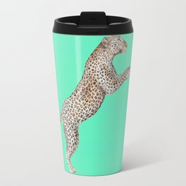 Leaping Leopard - Watercolor Travel Mug