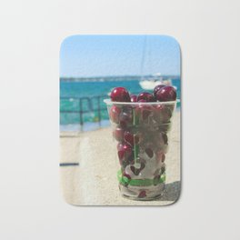National Cherry Festival - Traverse City, Michigan - Local Sweet Cherries In A Cup Bath Mat